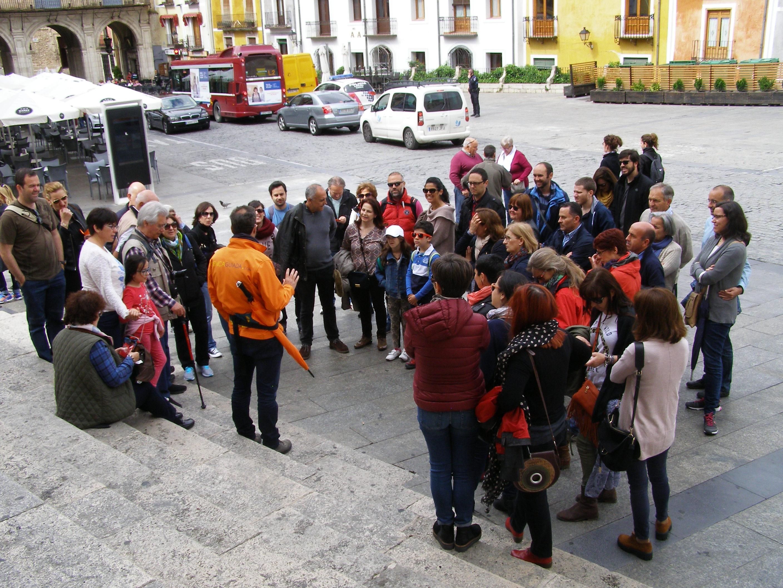 Empezando la visita guiada en la Catedral