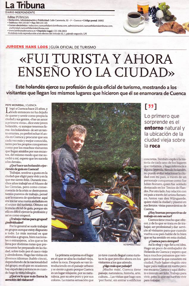 Entrevista de Jurgen en La Tribuna