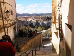 Barrio de San Miguel con grupo