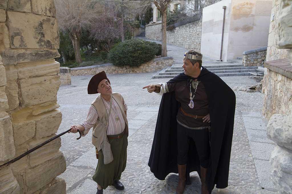 El rey Alfonso y el pastor Martín Alhaja